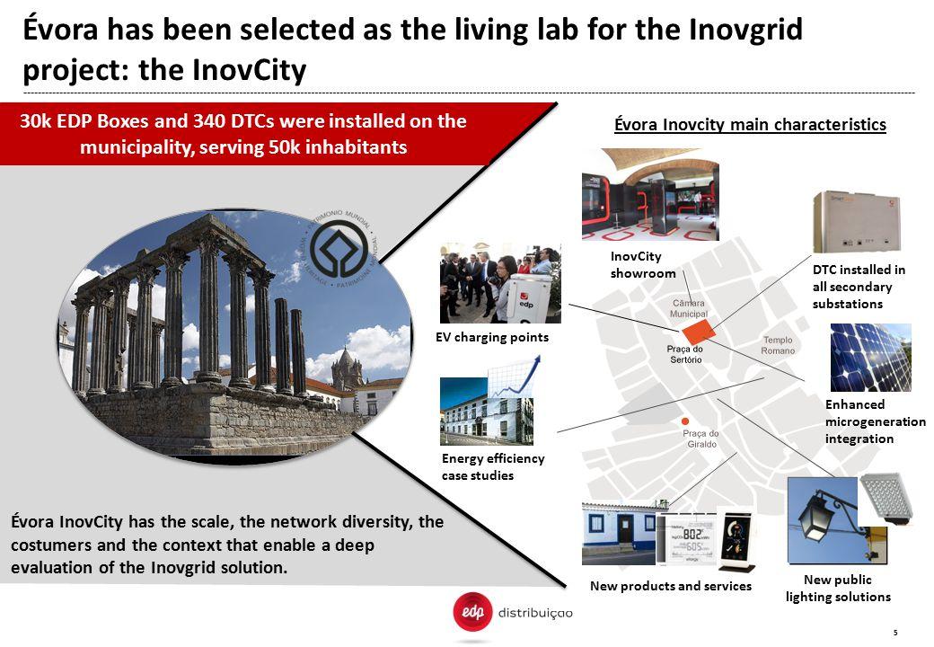 Évora Inovcity main characteristics New public lighting solutions