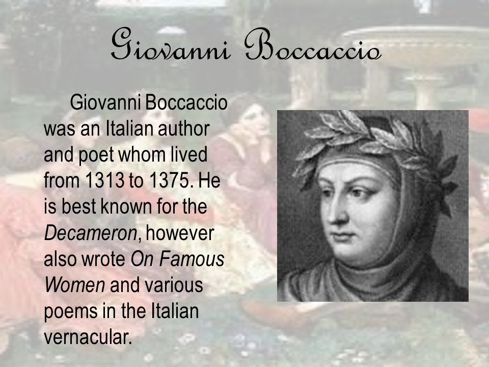 an analysis of giovanni boccaccios view of women