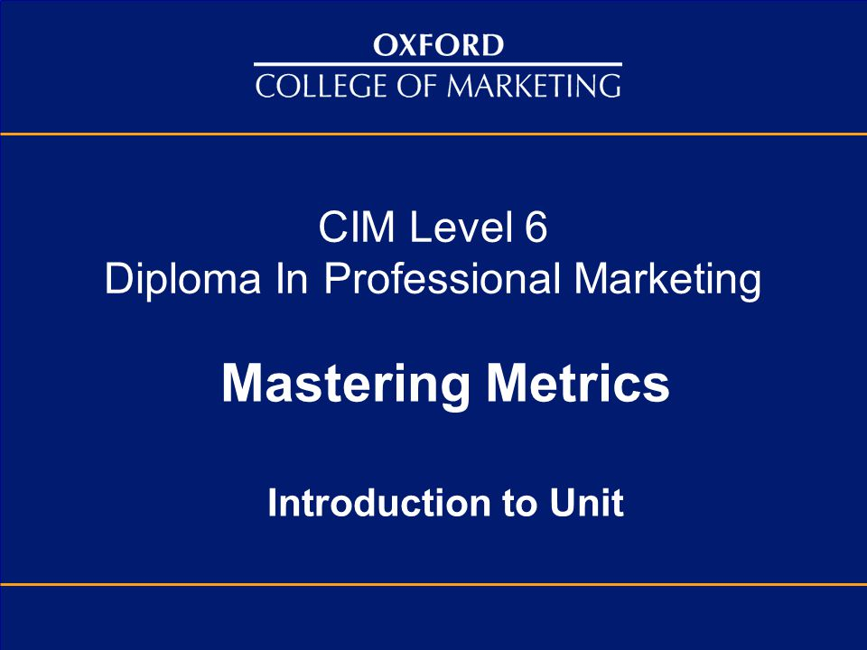 CIM Level 6 Diploma In Professional Marketing