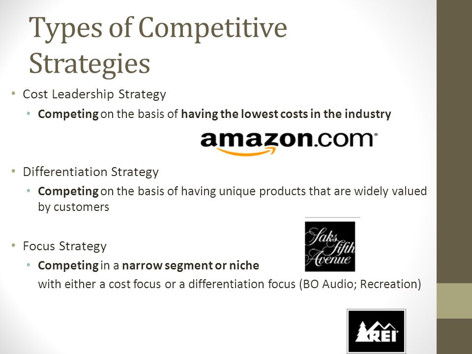 Types of Competitive Strategies