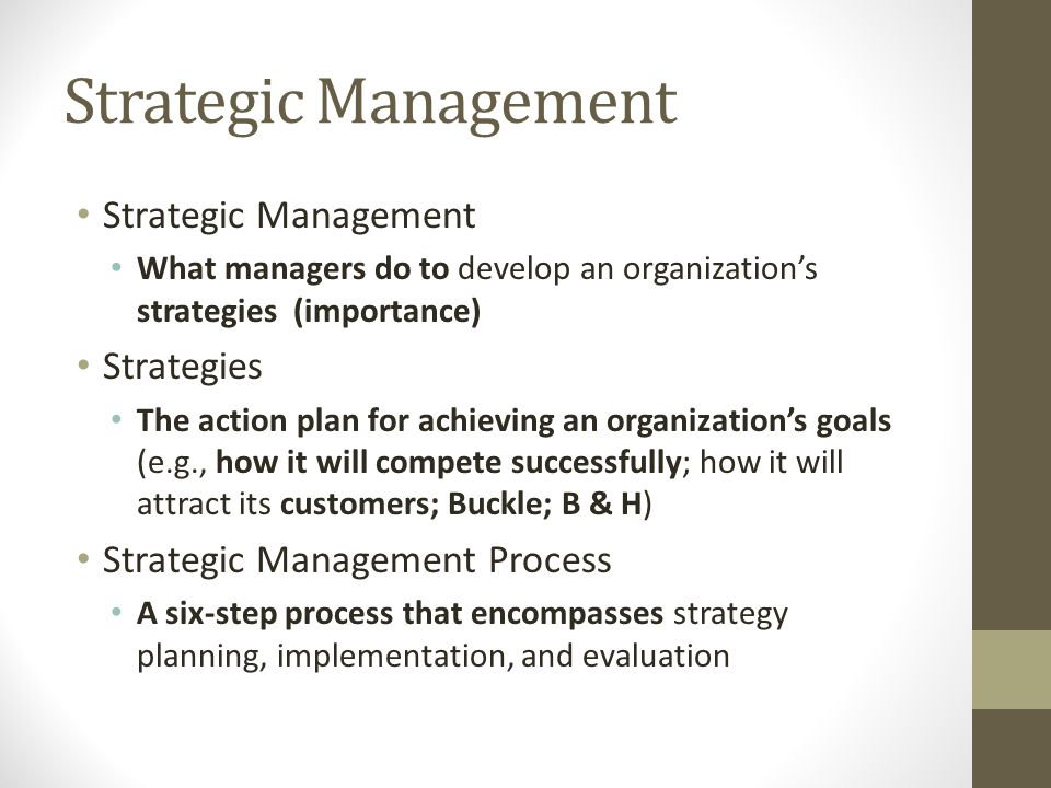 the development of a strategic plan and its importance in achieving organizational goals