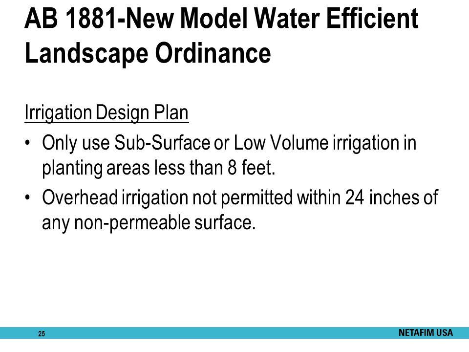 AB 1881-New Model Water Efficient Landscape Ordinance