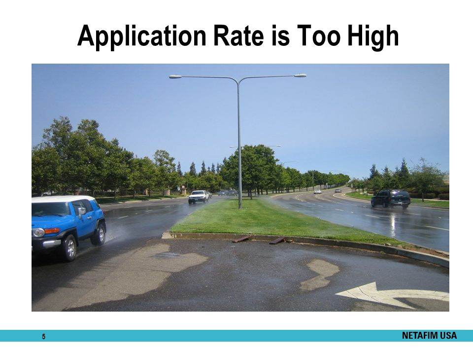 Application Rate is Too High