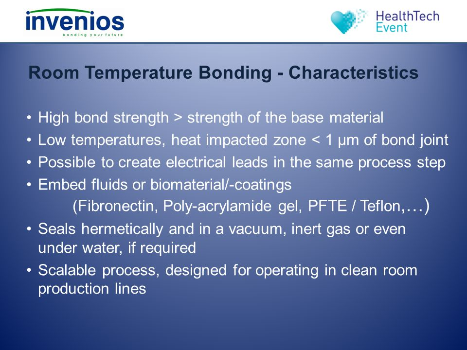 Room Temperature Bonding - Characteristics