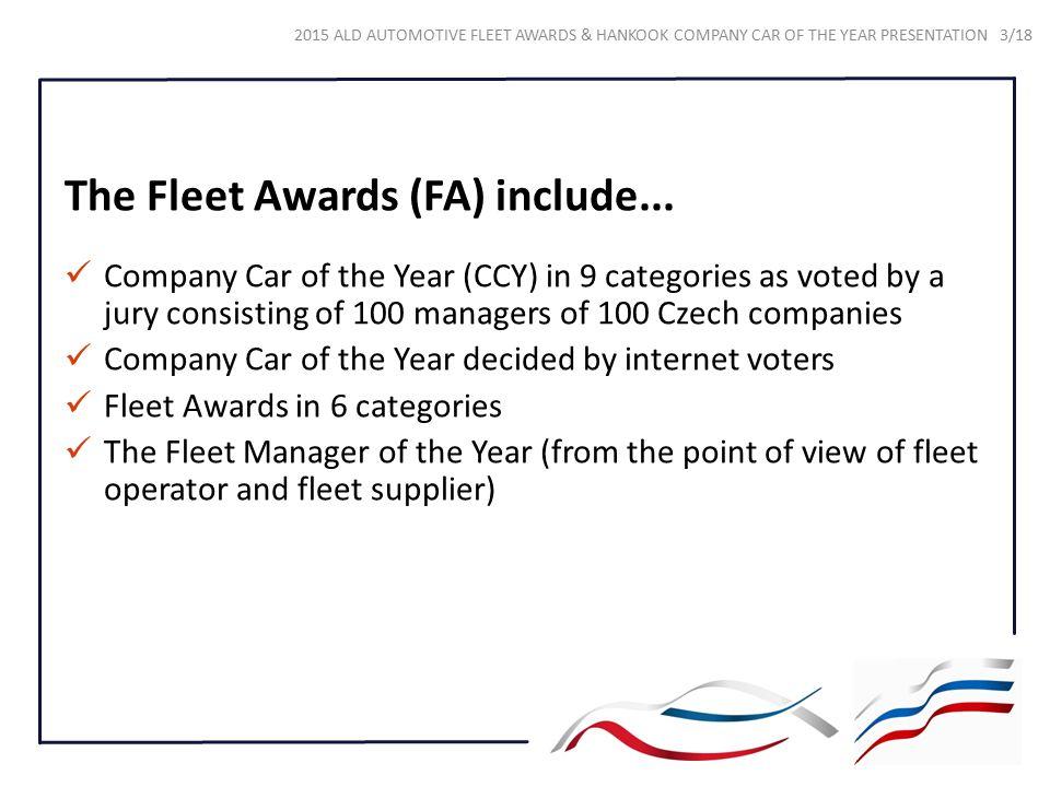 The Fleet Awards (FA) include...