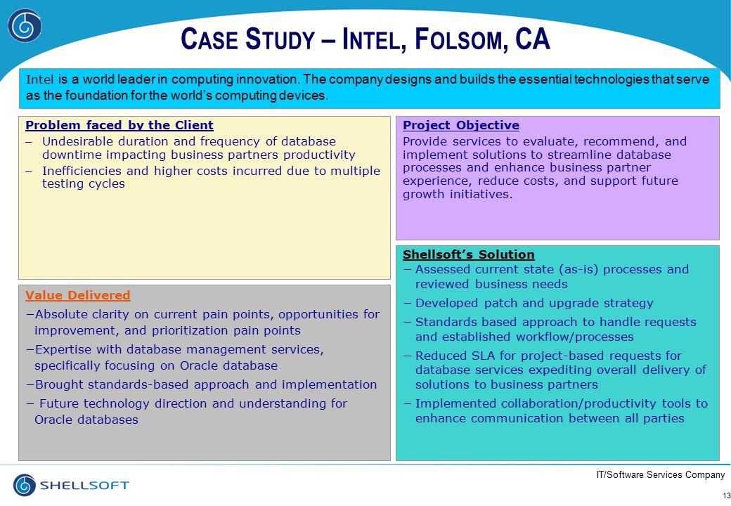 Case Study – Intel, Folsom, CA