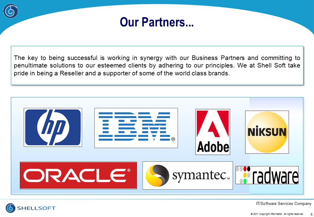 Our Partners...