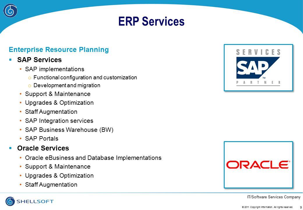 ERP Services Enterprise Resource Planning SAP Services Oracle Services