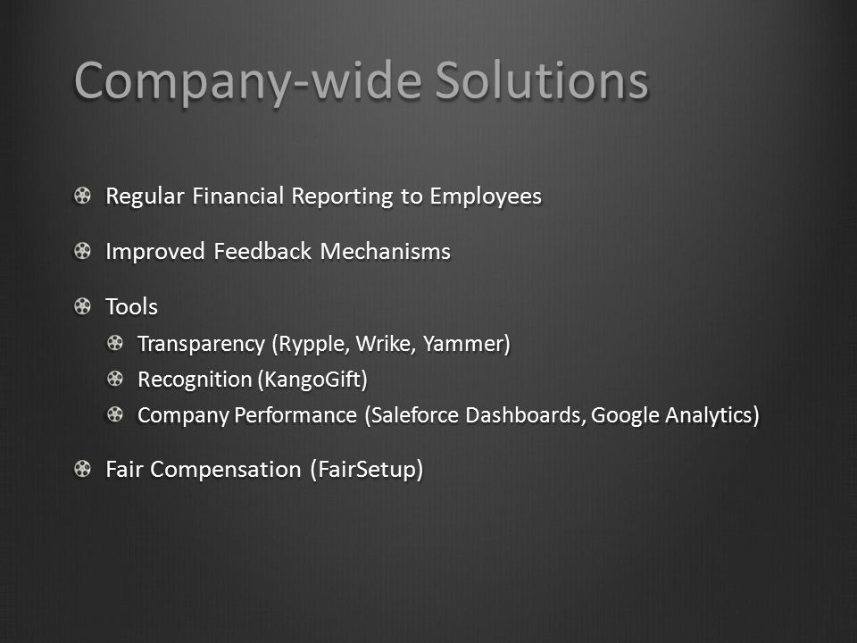 Company-wide Solutions