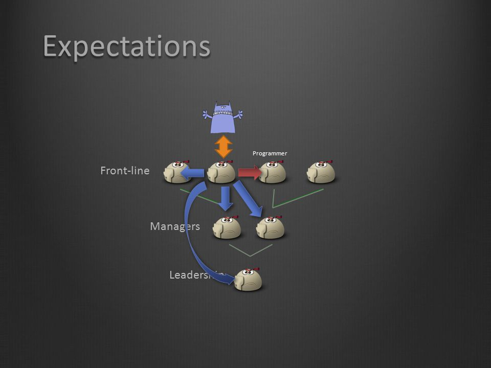 Expectations Programmer Front-line Managers Leadership