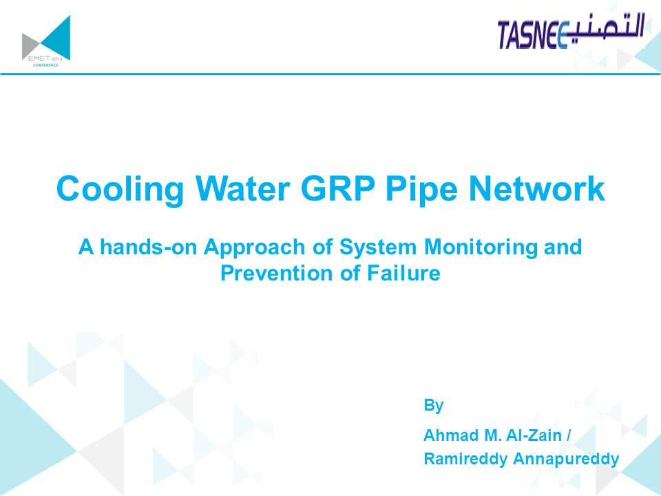 Cooling Water GRP Pipe Network
