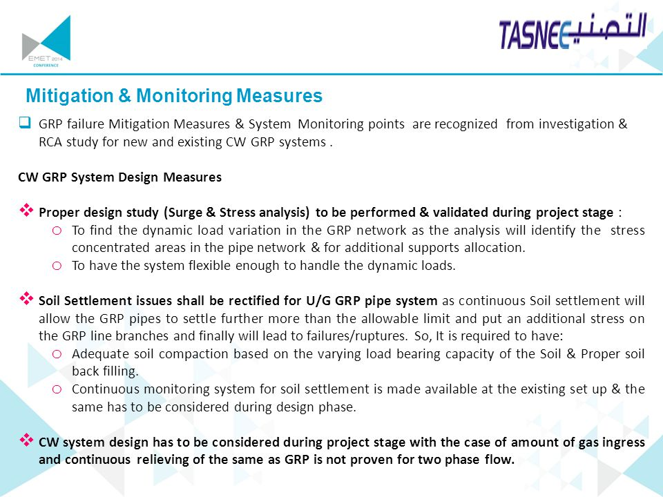 Mitigation & Monitoring Measures