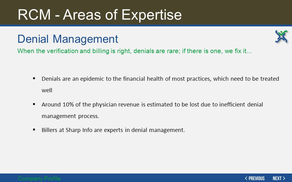 RCM - Areas of Expertise