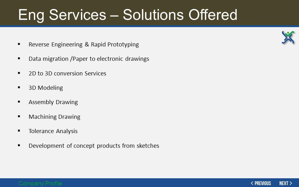 Eng Services – Solutions Offered