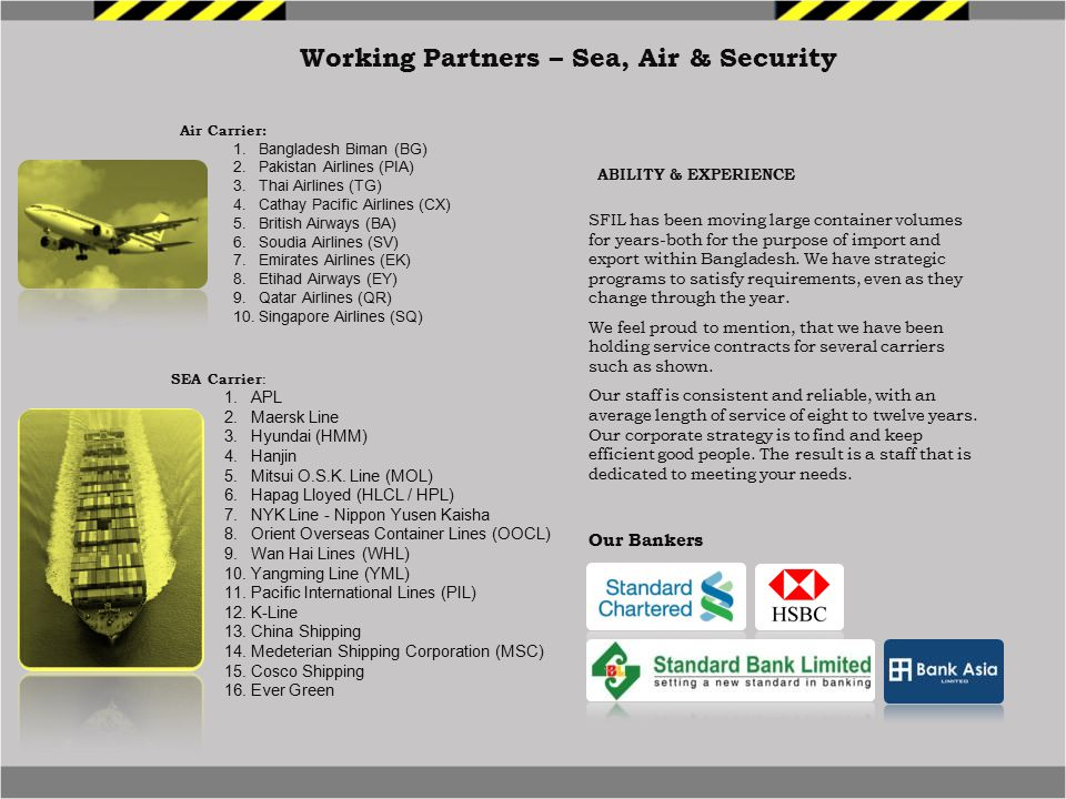 Working Partners – Sea, Air & Security