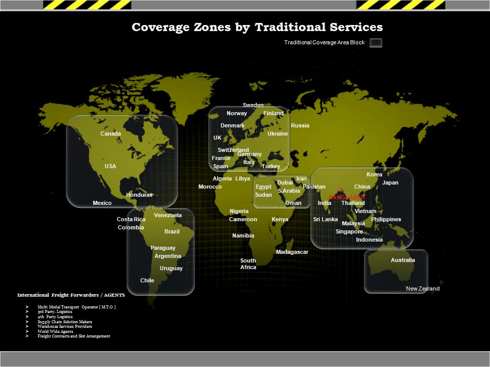 Coverage Zones by Traditional Services