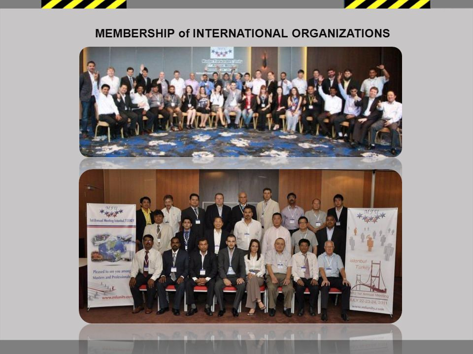 MEMBERSHIP of INTERNATIONAL ORGANIZATIONS