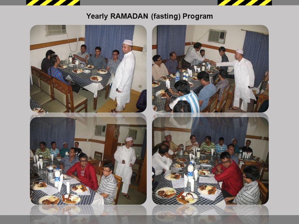 Yearly RAMADAN (fasting) Program