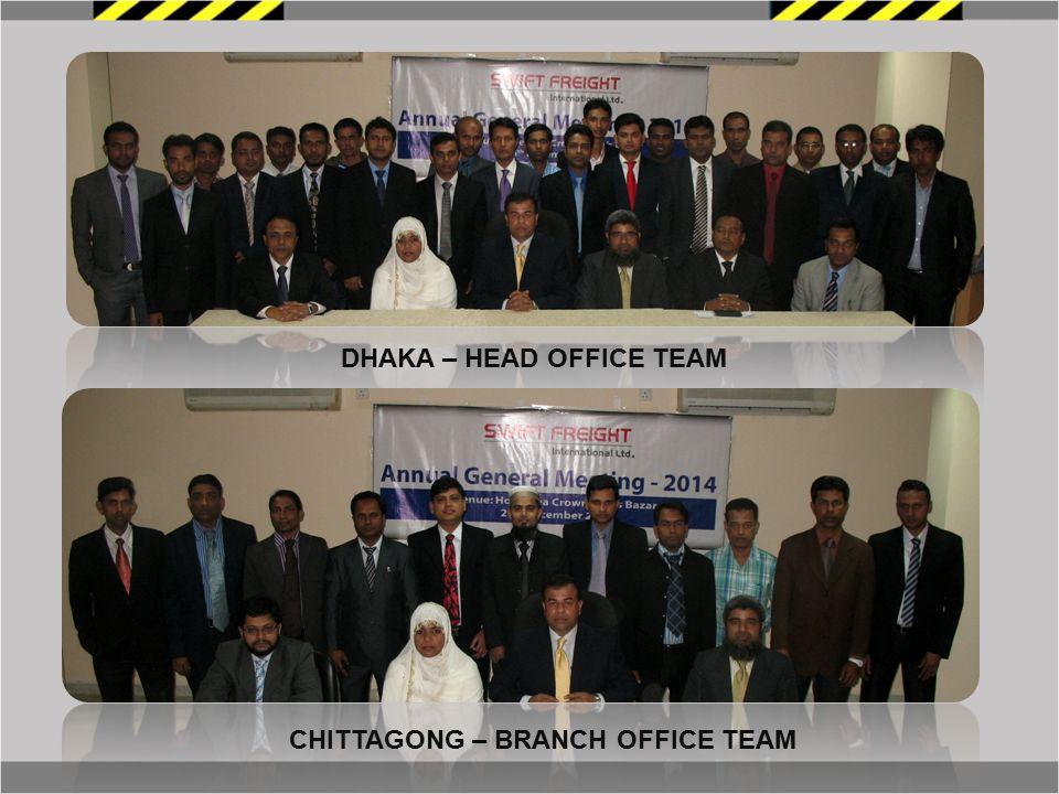 DHAKA – HEAD OFFICE TEAM CHITTAGONG – BRANCH OFFICE TEAM