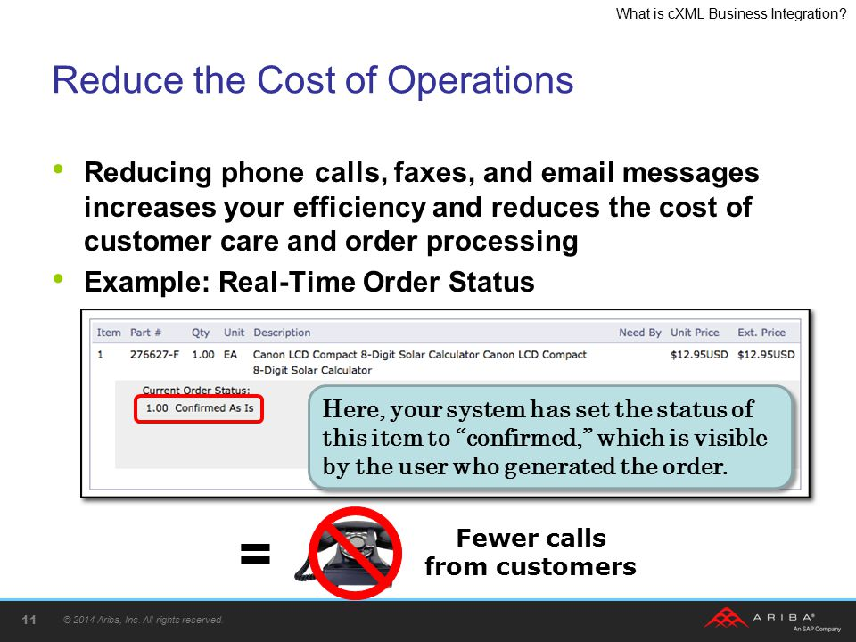 Reduce the Cost of Operations