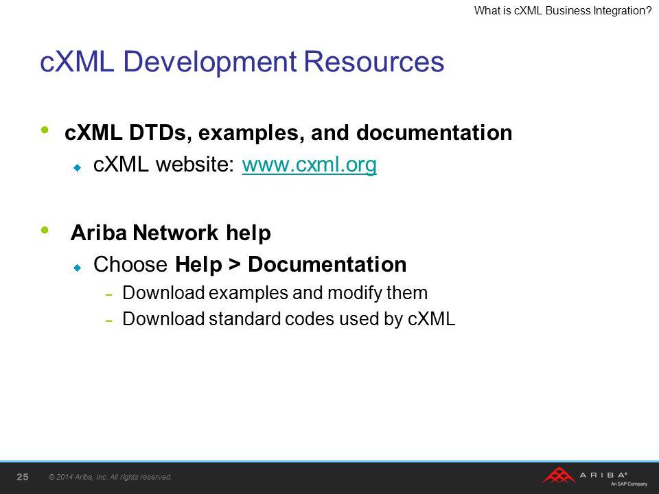 cXML Development Resources