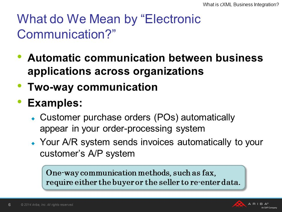 What do We Mean by Electronic Communication