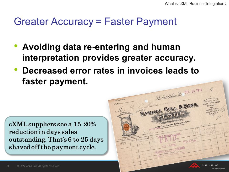 Greater Accuracy = Faster Payment