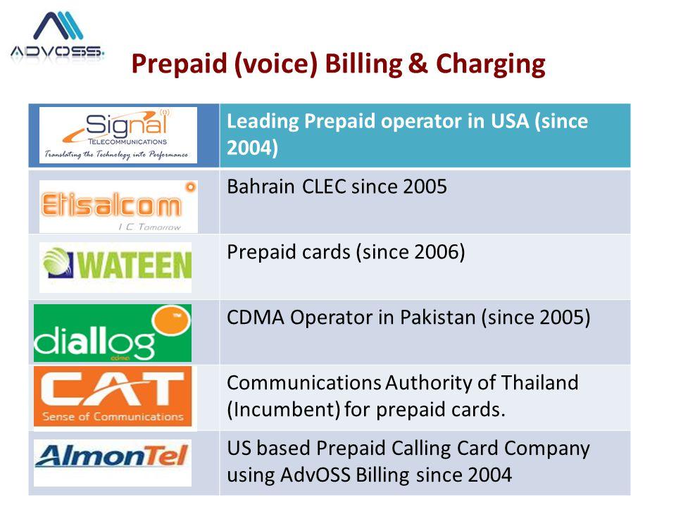 Prepaid (voice) Billing & Charging