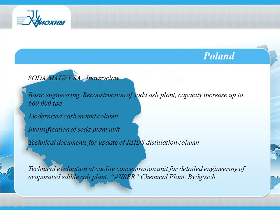 Poland SODA MATWY SA., Inowroclaw