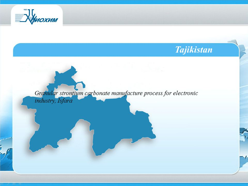 Tajikistan Granular strontium carbonate manufacture process for electronic industry, Isfara