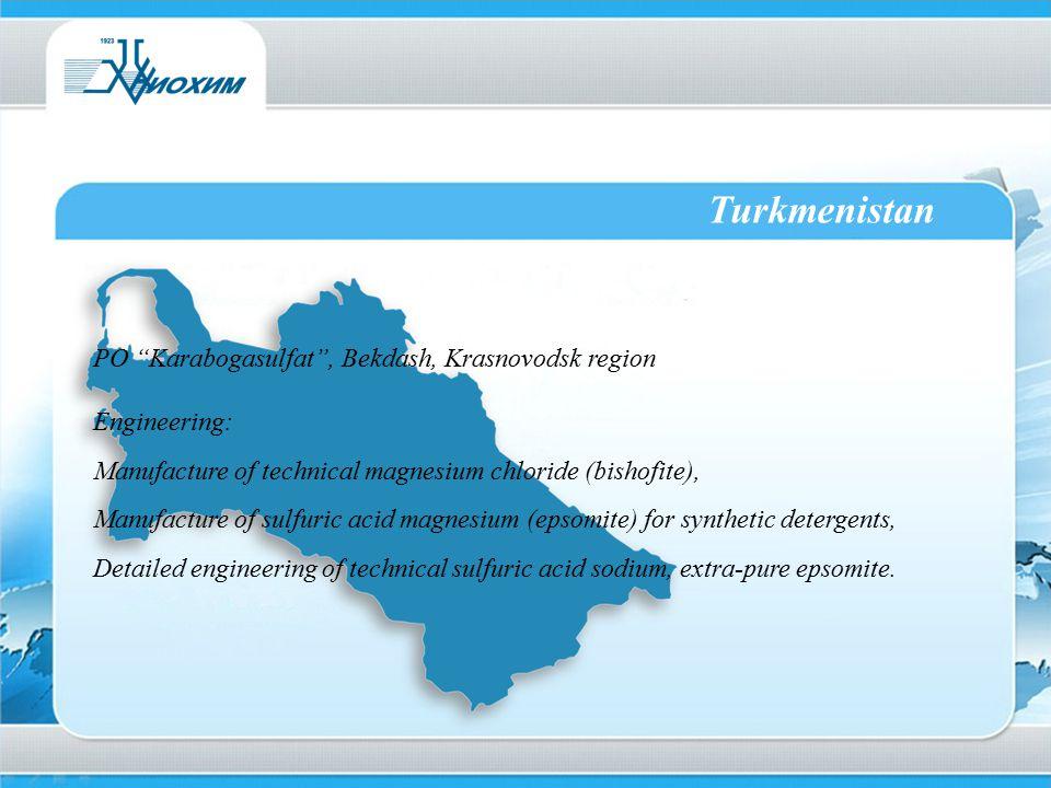 Turkmenistan PO Karabogasulfat , Bekdash, Krasnovodsk region