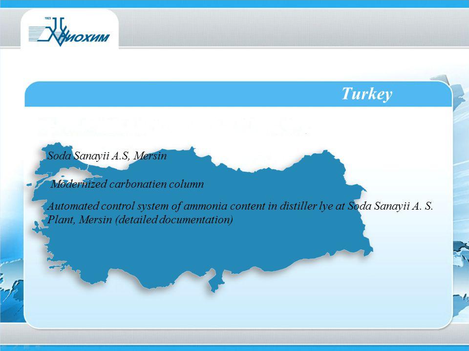Тurkey Soda Sanayii A.S, Mersin Modernized carbonatien column