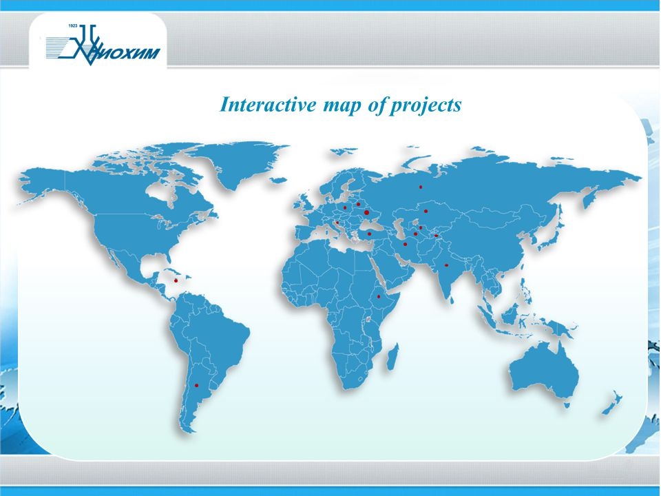 Interactive map of projects