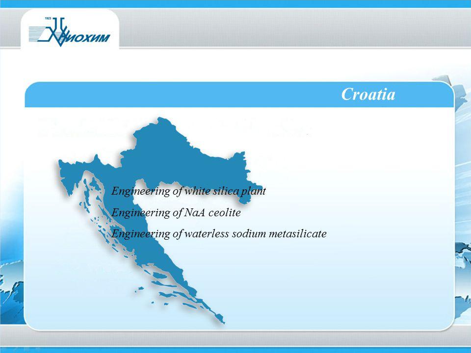 Croatia Engineering of white silica plant Engineering of NaA ceolite