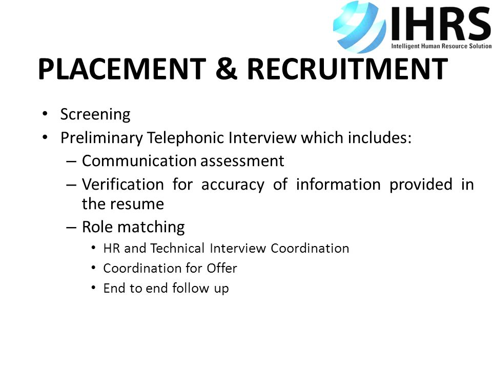 PLACEMENT & RECRUITMENT