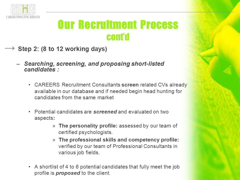 Our Recruitment Process cont'd