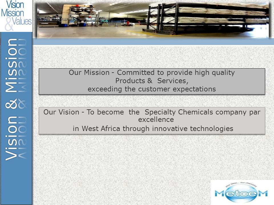 Vision & Mission Our Mission - Committed to provide high quality