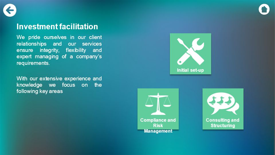 Investment facilitation