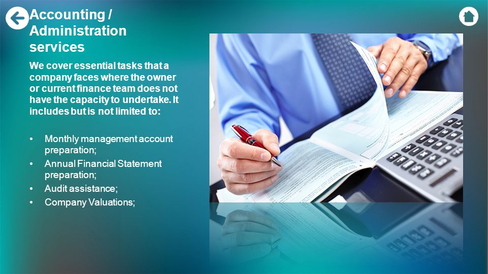 Accounting / Administration services