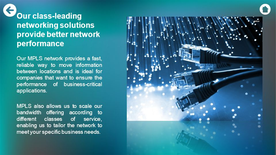 Our class-leading networking solutions provide better network performance