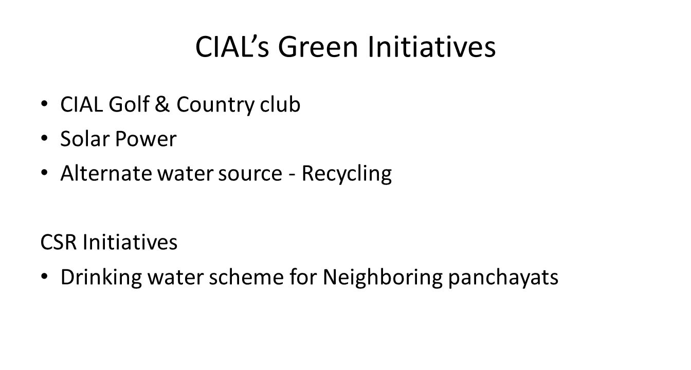 CIAL's Green Initiatives