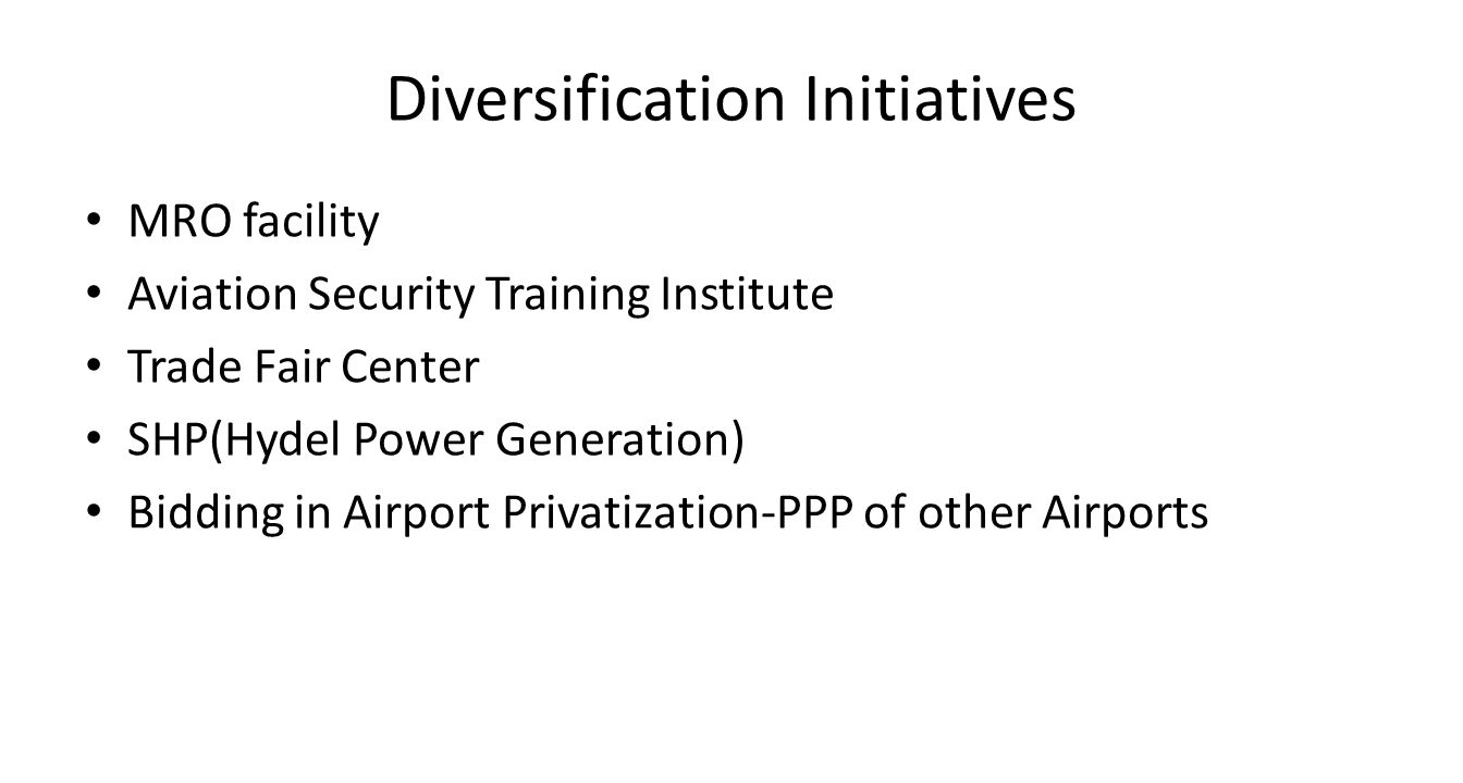 Diversification Initiatives