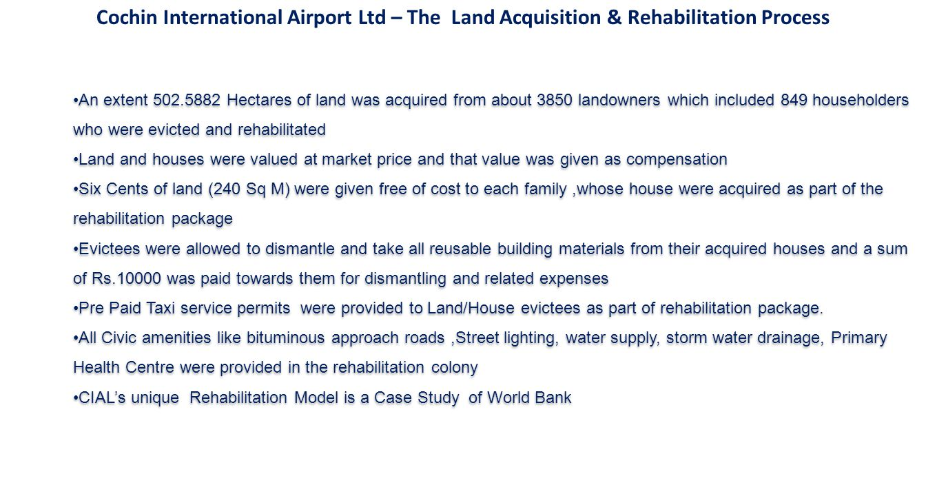 Cochin International Airport Ltd – The Land Acquisition & Rehabilitation Process