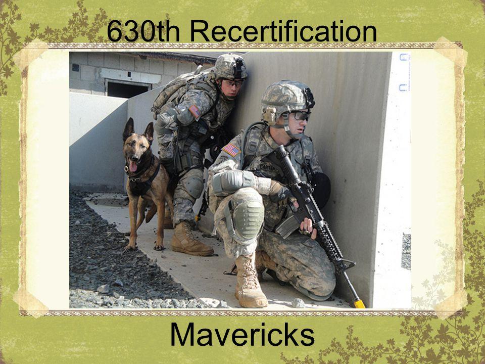 630th Recertification Mavericks