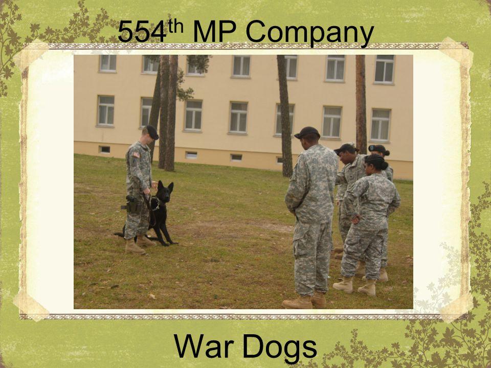 554th MP Company War Dogs