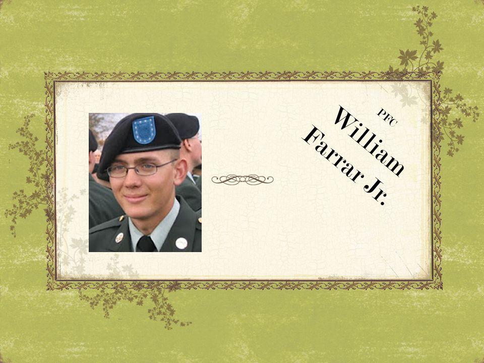 PFC William Farrar Jr.