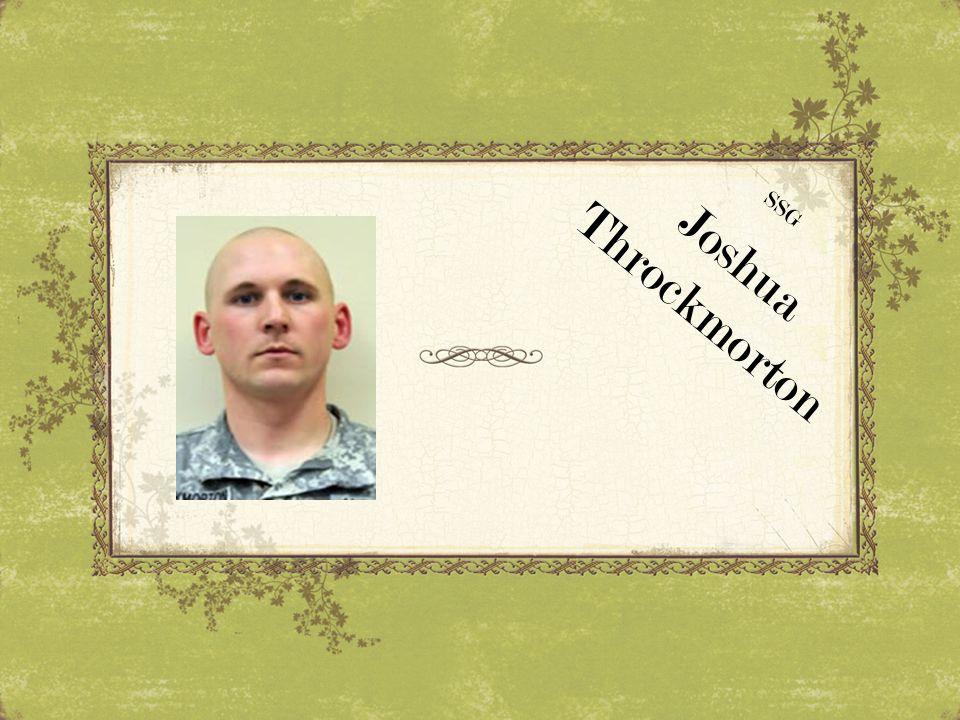 SSG Throckmorton Joshua