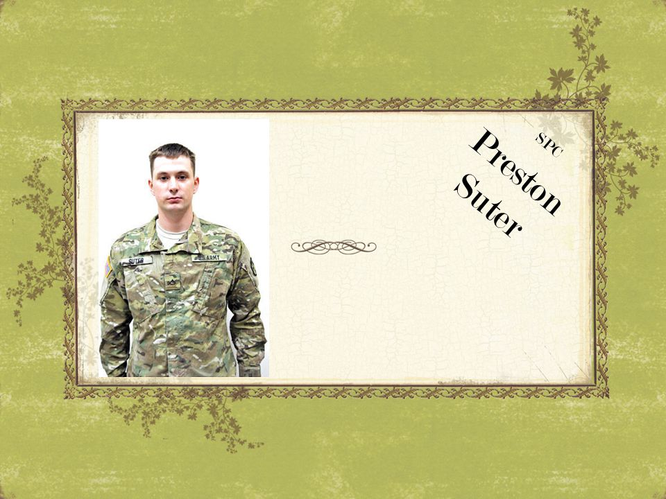 SPC Preston Suter