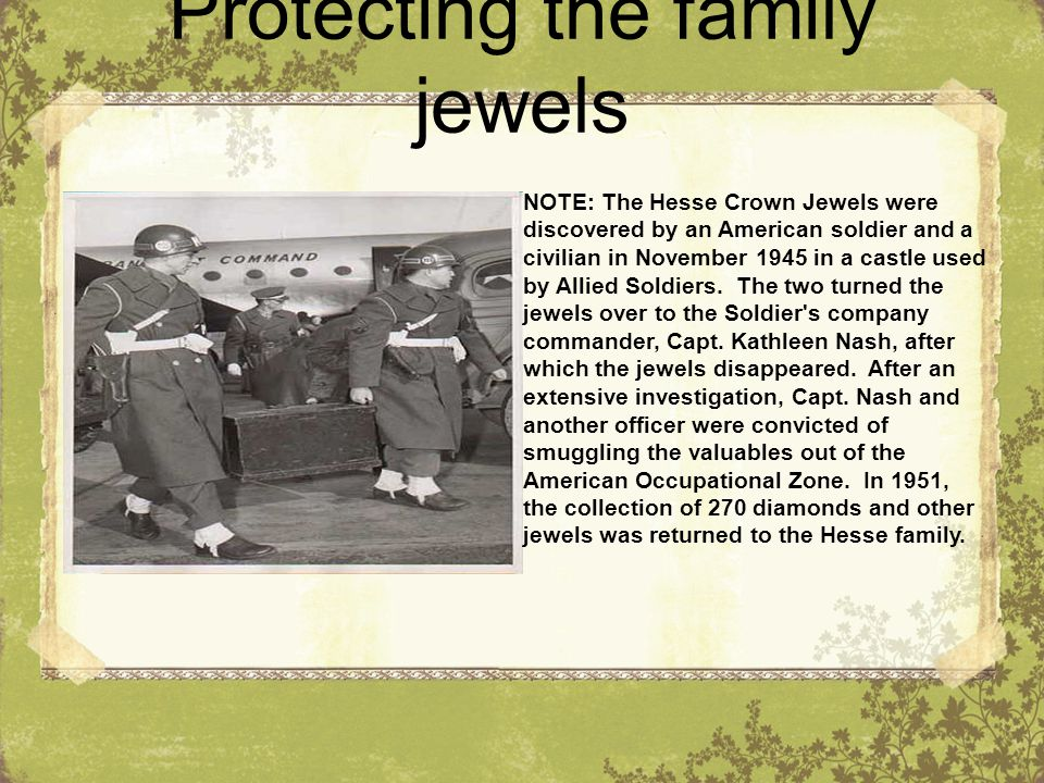 Protecting the family jewels
