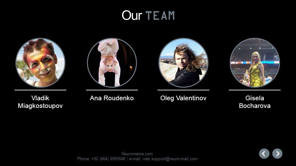 Our TEAM Ana Roudenko Oleg Valentinov Gisela Bocharova